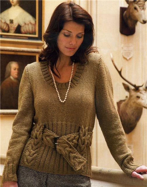 Пуловеры и свитера, связанные