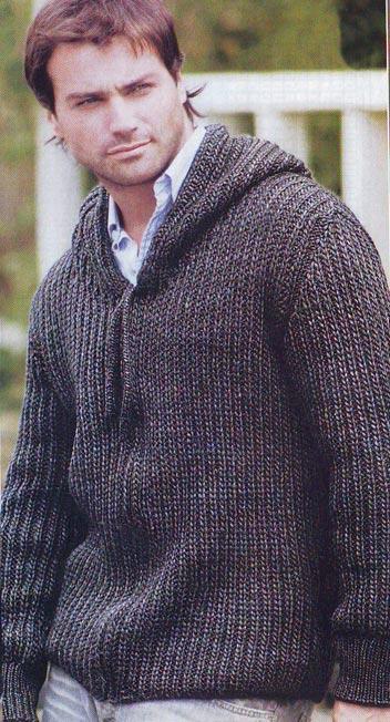 Вязаный мужской свитер с