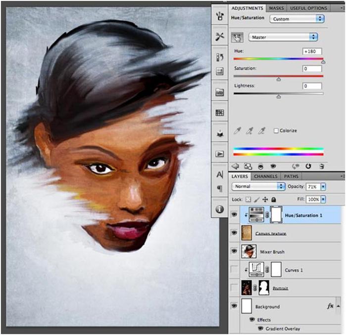 Как сделать эффект нарисованной фотографии в фотошопе
