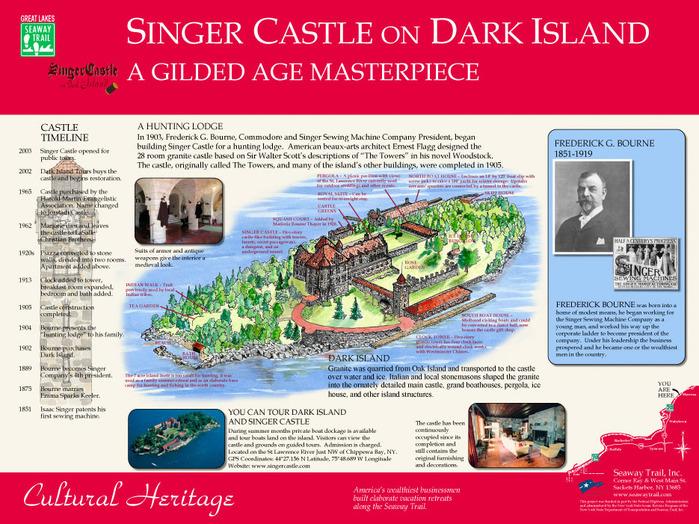 Замок Зингера (Singer Castle) на острове Дарк-Айленд (Dark Island) (Канада) 37645