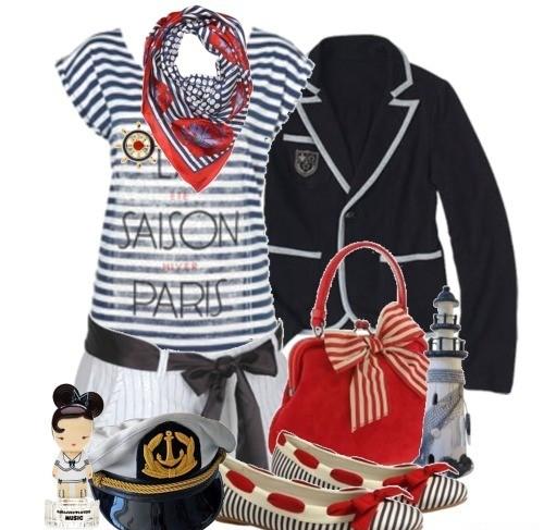 Одежда В Морском Стиле Для Полных