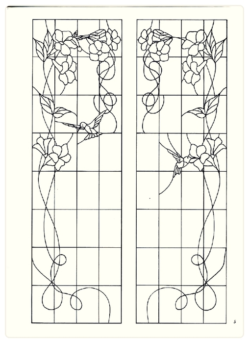 Decorative Doorways Stained Glass - 05 (508x700, 166Kb)