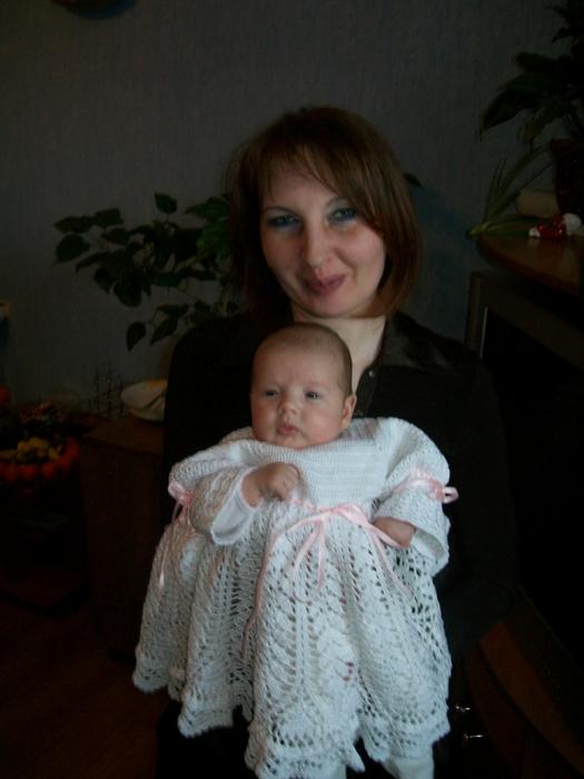 Схемы вязания крючком для новорожденных крестильное платье