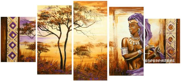 Triptico africana pelo violeta