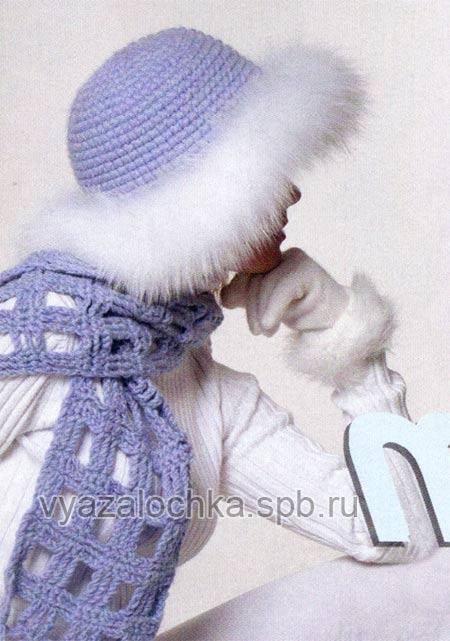 Зимняя женская шапка своими руками