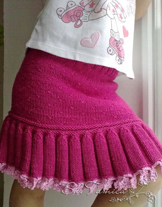 Вязание на спицах юбки для девочки 42