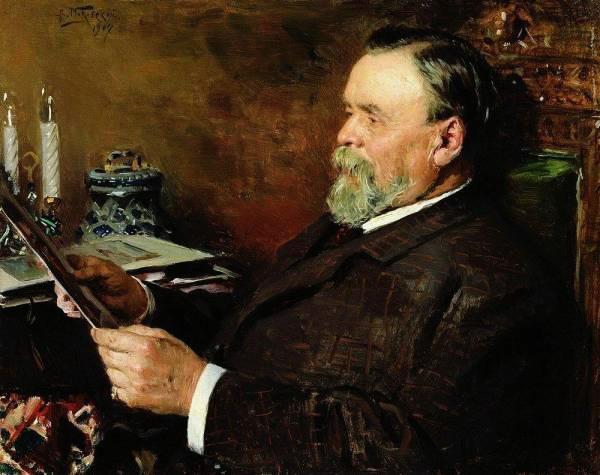 Любитель живописи Портрет коллекционера И Е Цветкова 1907 (600x475, 64Kb)