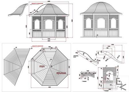 проект чертежи беседки - Всемирная схемотехника.