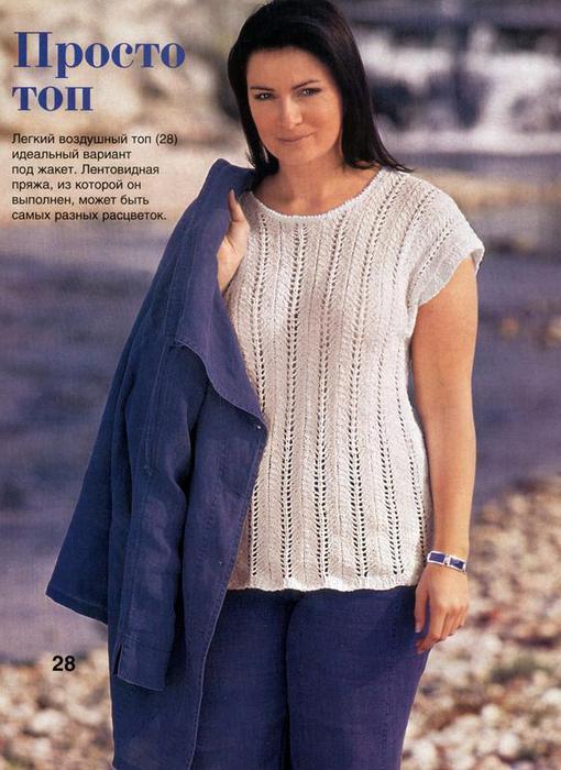 Вязание спицы лето для полных женщин