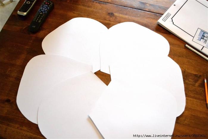 Большие цветы из бумаги своими руками мастер класс на стену