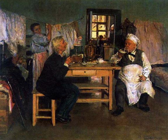 Беседа. Идеалист и материалист 1900 (575x480, 75Kb)
