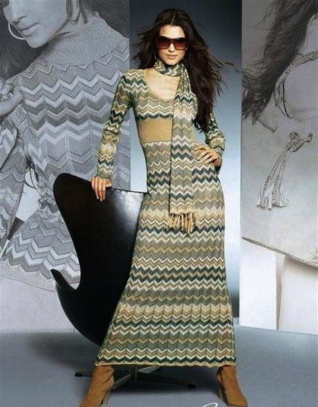 вязаное на спицах платье (460x588, 159Kb)