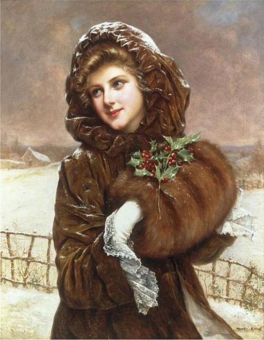 Francois-Martin-Kavel (1861-1931) - A Winter Beauty (544x700, 286Kb)