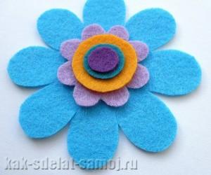 цветы из фетра мастер класс.