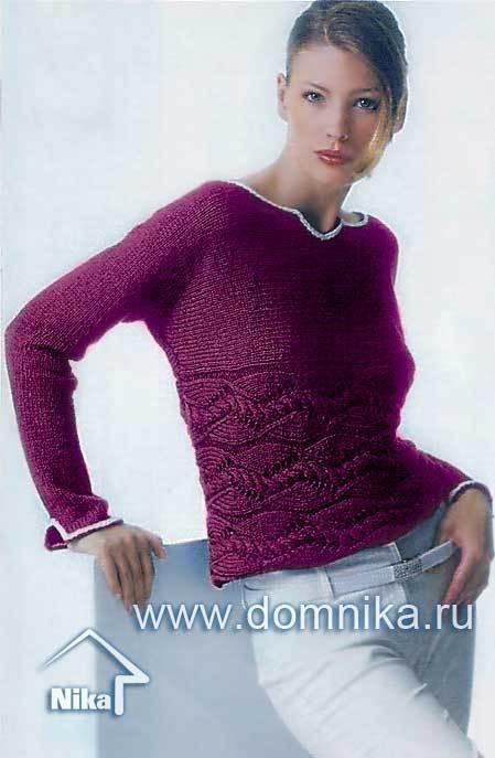 схемы вязания свитеров - Самое