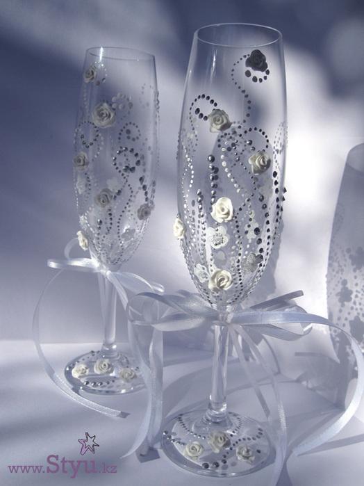 Фужеры на свадьбу своими руками фото мастер