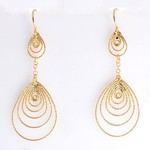 Превью roberto coin multi-circle 18kt yellow Gold tear drop Earrings (400x400, 23Kb)