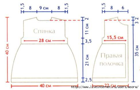 Выкройка русского сарафана .  Кройка, шитье, вязание - способы и приемы.
