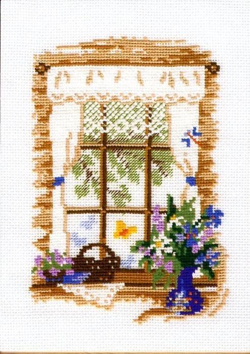 Скачать схему вышивки окно