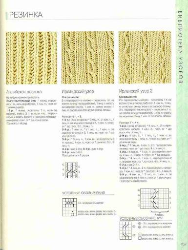 Узоры вязания резинок спицами 42