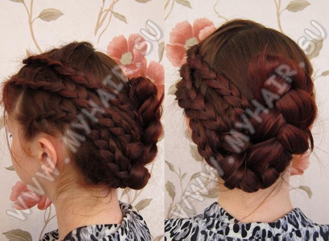 Как заплести вывернутую косу видео - схема и техника.  Схема плетение косы по диагонали.