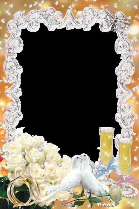 Оформление поздравления с днем свадьбы в рамках