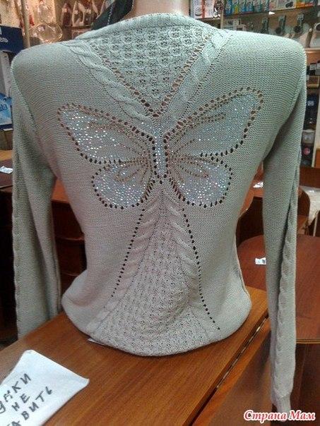 Схемы вязания бабочек