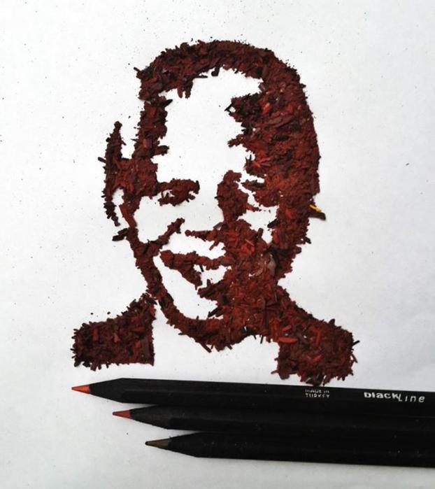 Рисунки карандашной стружкой (проект Меган Маконахи)