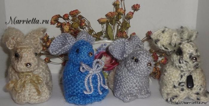 кролики и пасхальное яйцо в вязаных цветочках (17) (700x357, 207Kb)