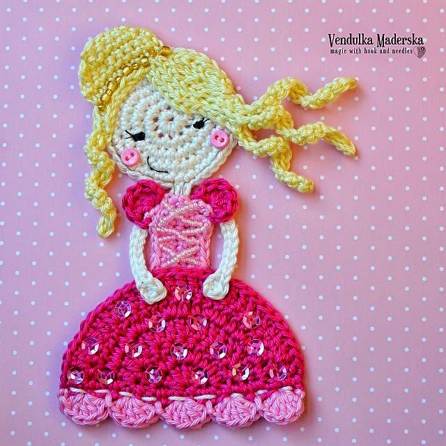 Аппликации для девочки вязание 20