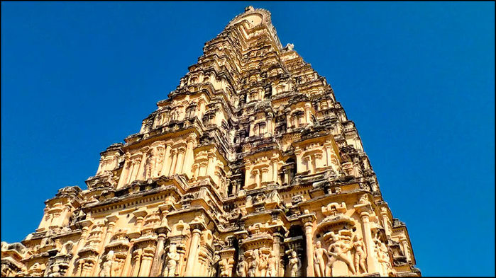 Гопурам, надвратный храм, храма Вирупакши в Хампи/3673959_4 (700x393, 93Kb)