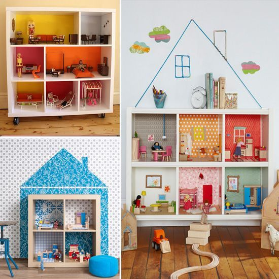 Как сделать домик для куклы в детской 578