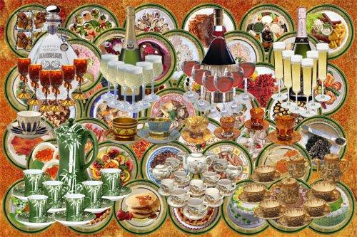 Клипарт детский Посуда, еда и напитки для бумажных кукол (500x333, 78Kb)