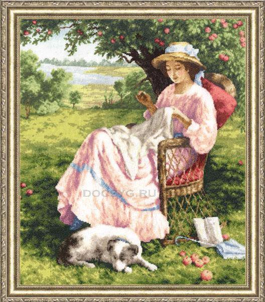 схема вышивки Яблоневый сад (528x600, 390Kb)
