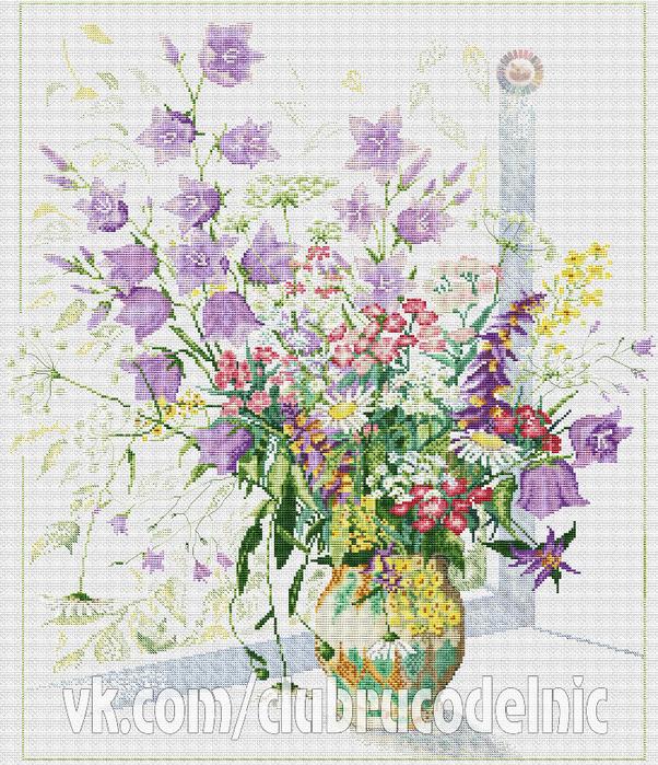 Field Flowers Bouquet (602x700, 668Kb)