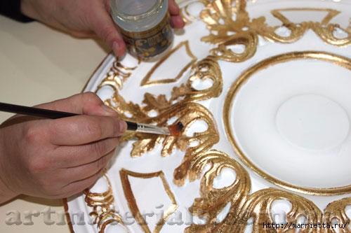 Нанесение золота своими руками