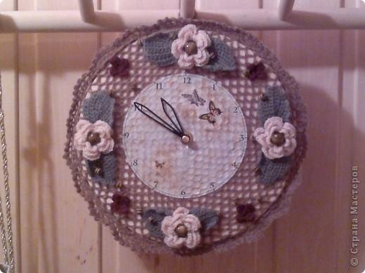 Часы мастер класс вязание