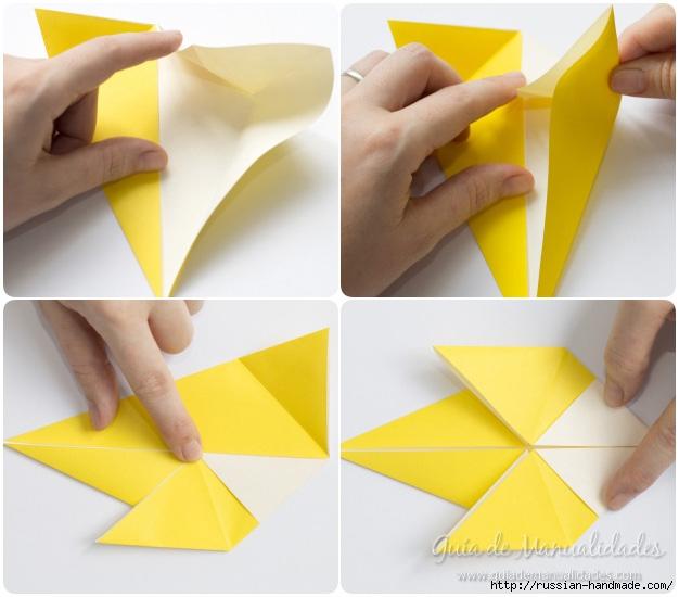 Как сложить ПТИЧКУ в технике оригами (6) (626x550, 160Kb)