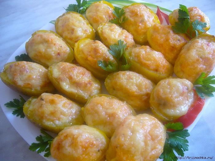 картошка запеченная под сыром фото рецепт