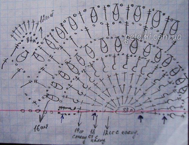 Красивый узор веера крючком1 (630x484, 191Kb)