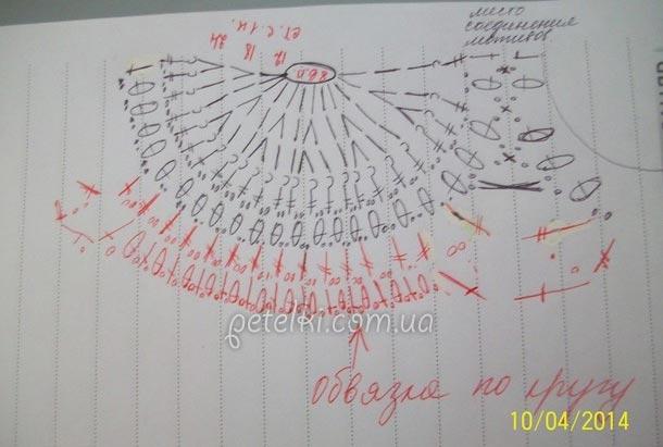 Красивый узор веера крючком2 (610x411, 107Kb)