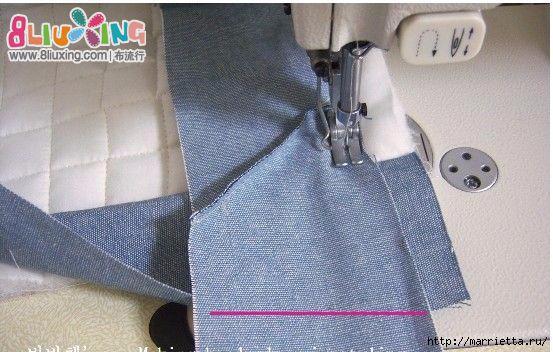 Как окантовать лоскутное одеяло (4) (553x352, 156Kb)