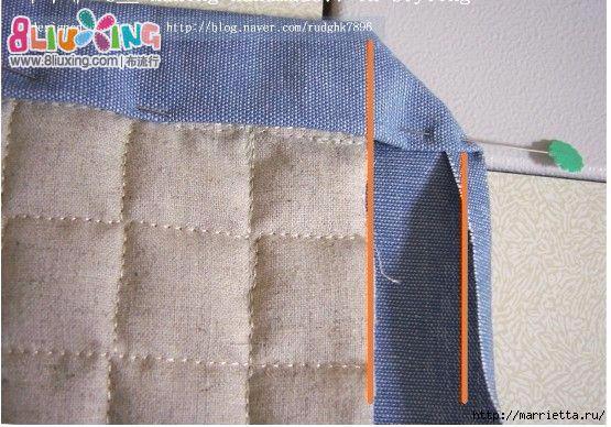 Как окантовать лоскутное одеяло (14) (555x388, 179Kb)