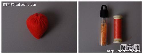 Клубника из фетра. Шаблон (2) (500x188, 29Kb)