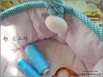 Текстильная корзинка - органайзер для рукоделия (6) (404x304, 85Kb)