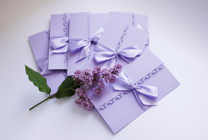 Приглашения на свадьбу своими руками сиреневые