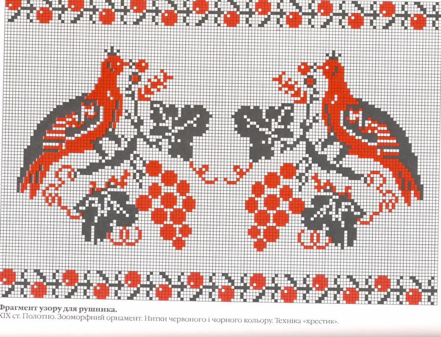 картинки схемы украинской вышивки