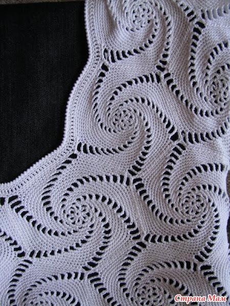 Черное и белое вяжем спицами