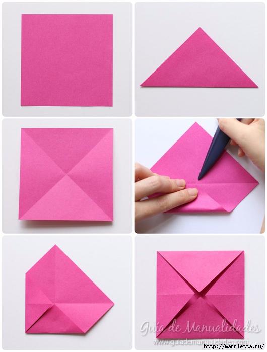 Нежные розочки из бумаги в технике оригами (3) (530x700, 197Kb)