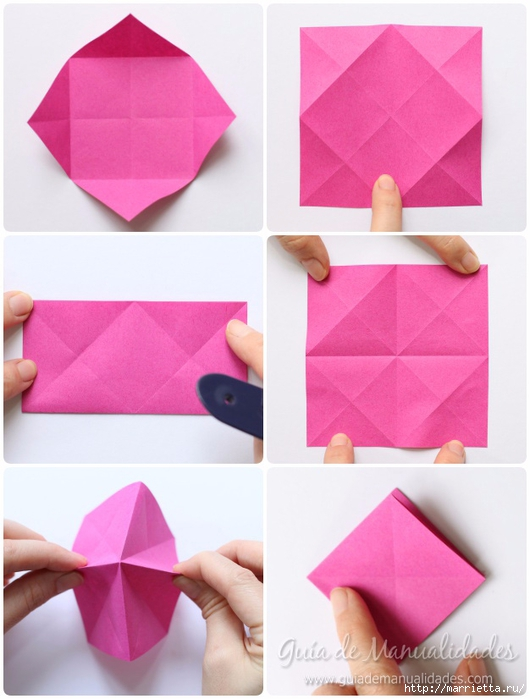 Нежные розочки из бумаги в технике оригами (4) (530x700, 207Kb)